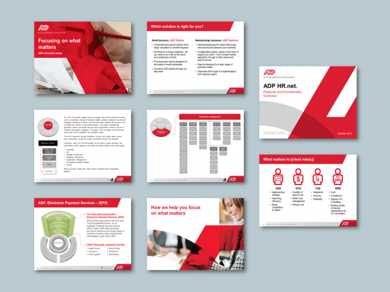 Word proposal template for economics planning consultancy. Client: ADP
