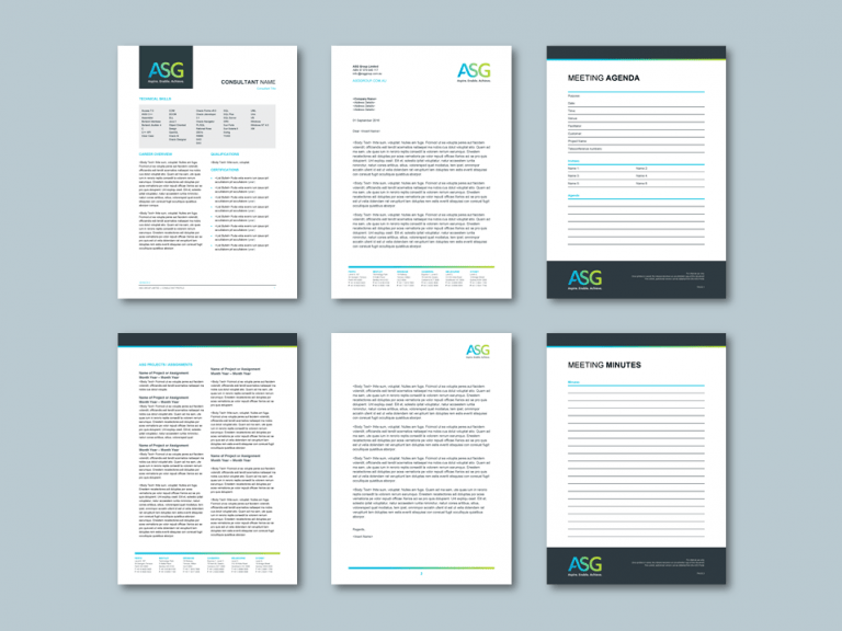 Word proposal template for economics planning consultancy. Client: ASG