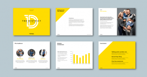 InDesign to PowerPoint presentation template for financial consultancy​. Client: Ashe Morgan