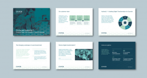 InDesign to PowerPoint presentation template for software applications services​. Client: Civica