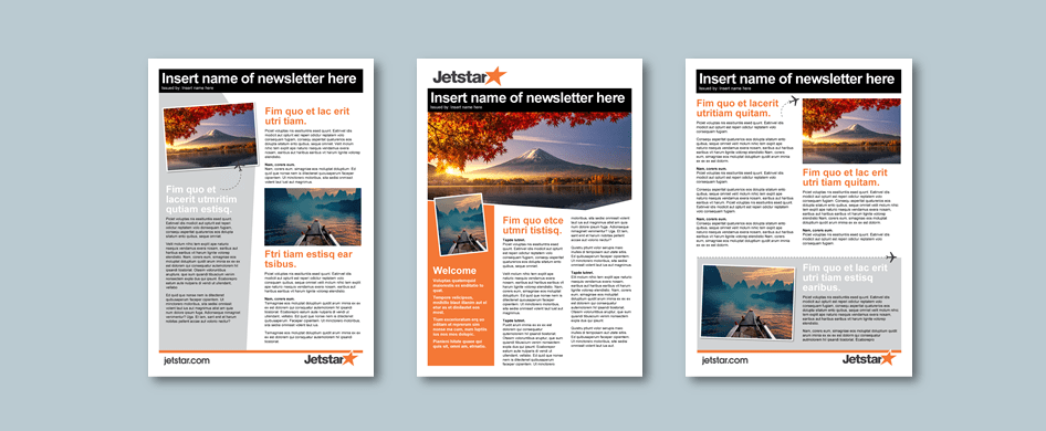Word proposal template for economics planning consultancy. Client: Jetstar
