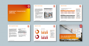 PowerPoint presentation template for energy retailer​. Client: Origin Energy