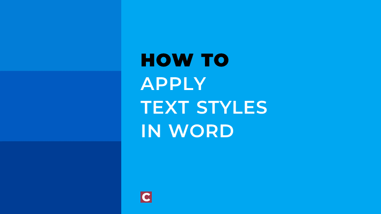 How to apply text styles in Word