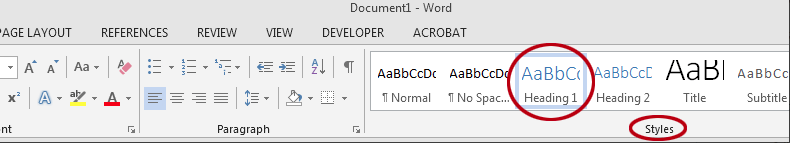 How to apply text styles in Word. Select a Quick Style.