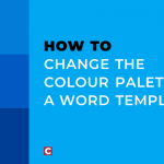 How to change the colour palette in a Word template