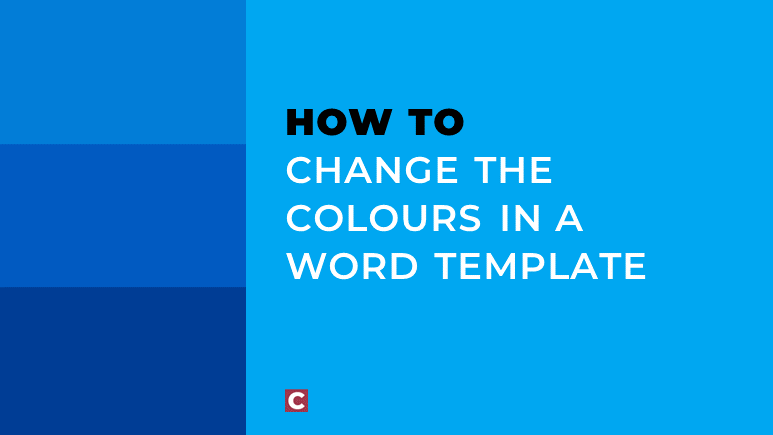 How to change the colours in a Word template