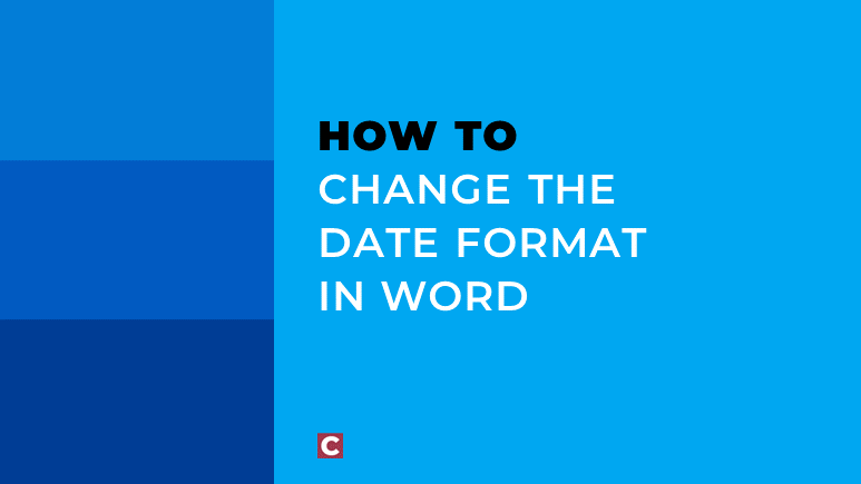 How to change the date format in Word