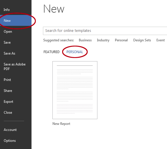 How to save a document as a template in Word. New template.