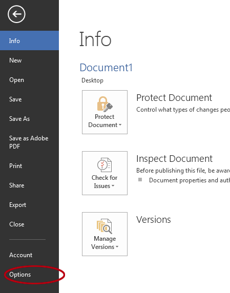 How to see the Developer tab in Word. File tab, options settings.