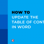 How to update the table of contents in Word