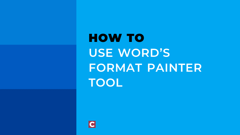 How to use Word's format painter tool