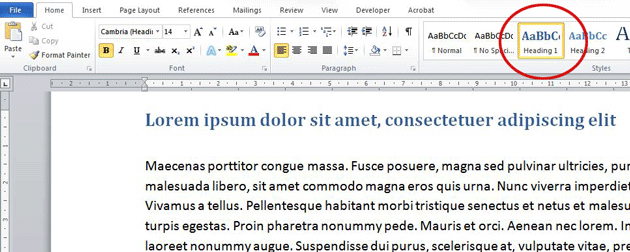Understanding text styles in Word. The Styles gallery.