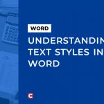 Understanding Word text styles