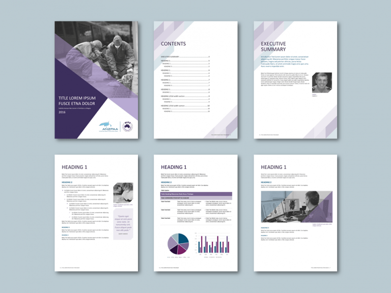Word report template for policing advisory agency. Client: Australia New Zealand Policing Advisory Agency (ANZPAA)